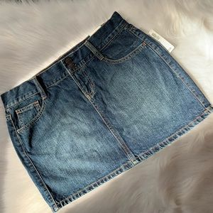 Jean Mini Skirt NWT